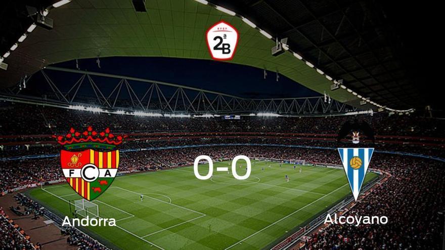 El FC Andorra y el Alcoyano se reparten los puntos en un partido sin goles (0-0)