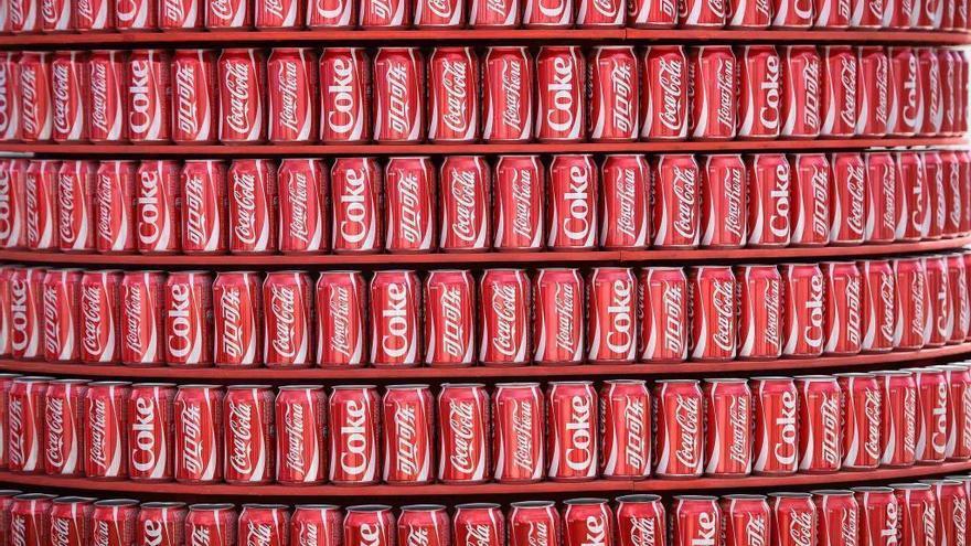 La Coca Cola de color azul...made in Carlos Tartiere