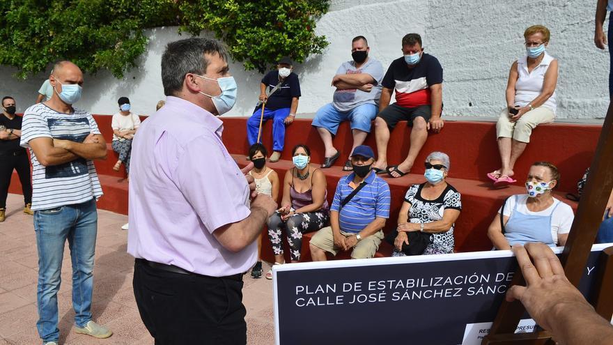 A licitación la reparación de un muro en la calle Cantabria de San Juan