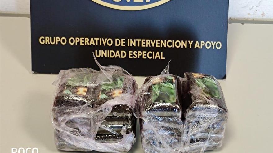 Detenido con medio kilo de hachís en 7 Palmas