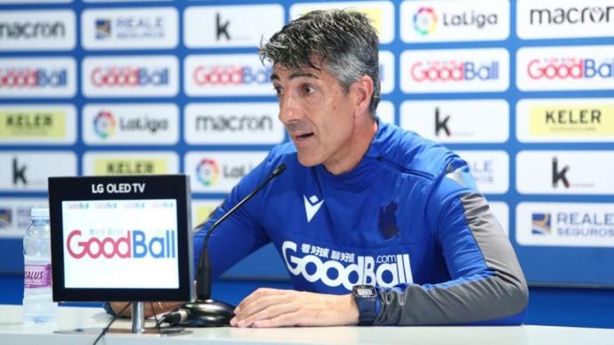 Imanol Alguacil: «Al Elche le faltan puntos, está compitiendo muy bien»