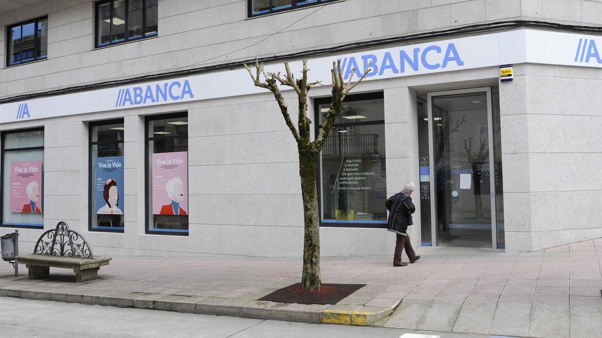 Una sucursal de Abanca en Lalín.
