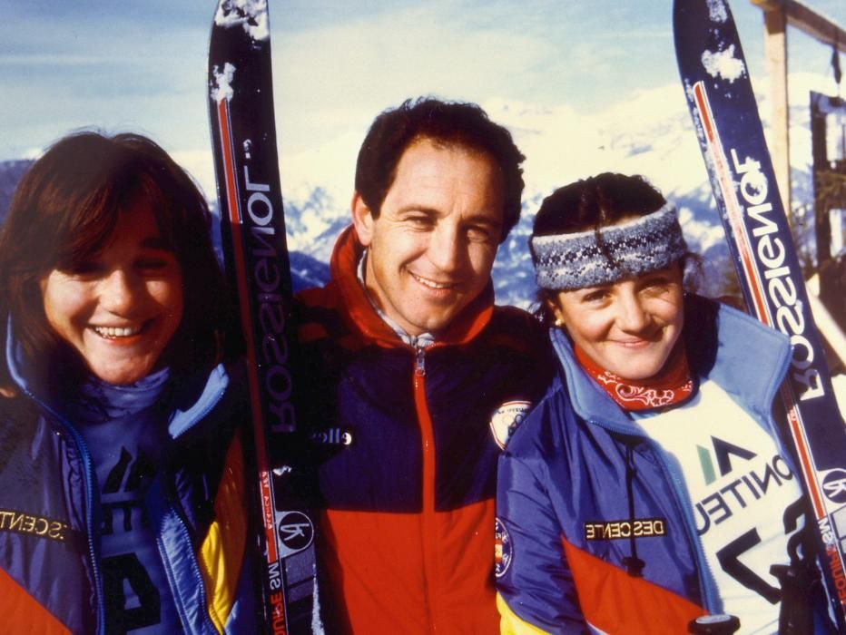 Blanca Fernández Ochoa junto a su hermano Paco
