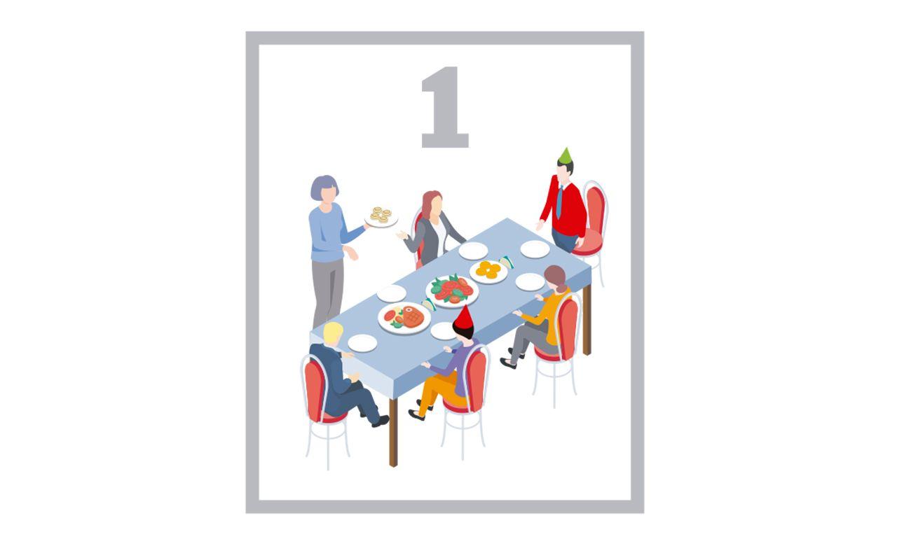 Se recomienda que las reuniones en estas fiestas sean de una única unidad familiar, es decir, persoansa que ya viven juntas. En caos de ser necesario incorporar a algún otro miembro, como mayores que están solos, se aconseja que un máximo de dos unidades familiares