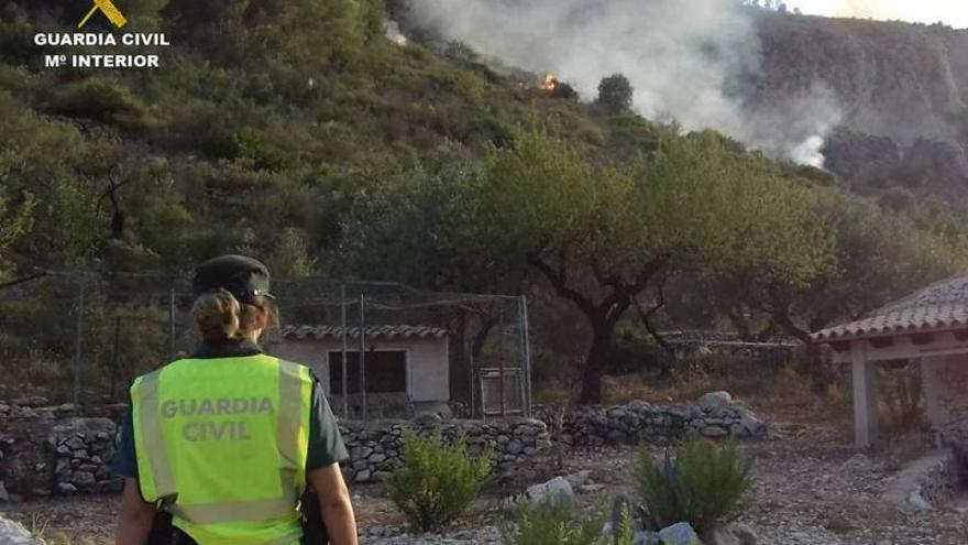 Un anciano de 80 años causó los incendios de Alcalalí