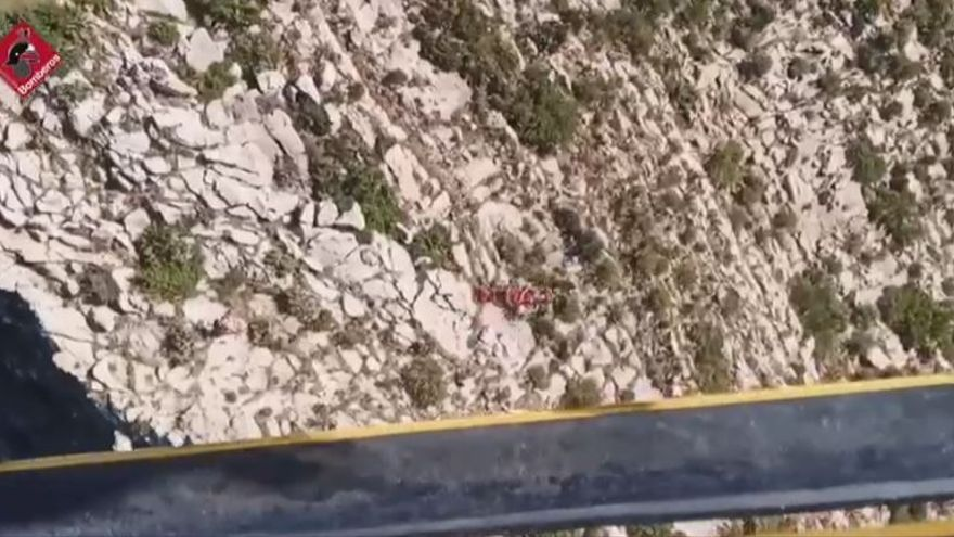 Rescatan en helicóptero a un ciclista herido en Tárbena