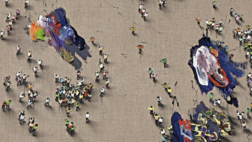 Las multitudes de Juan Genovés llegan a Rusia
