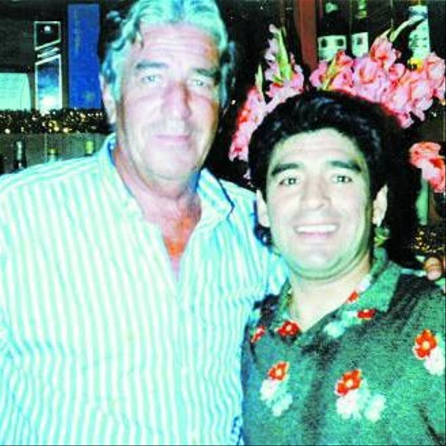 Fotografía de Viberti con Maradona
