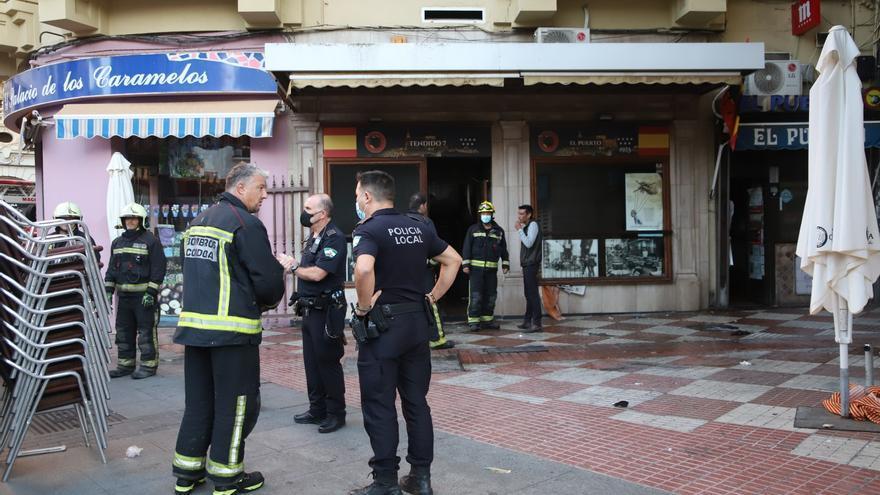Incendio sin heridos en el bar El Puerto de la calle La Plata en Córdoba