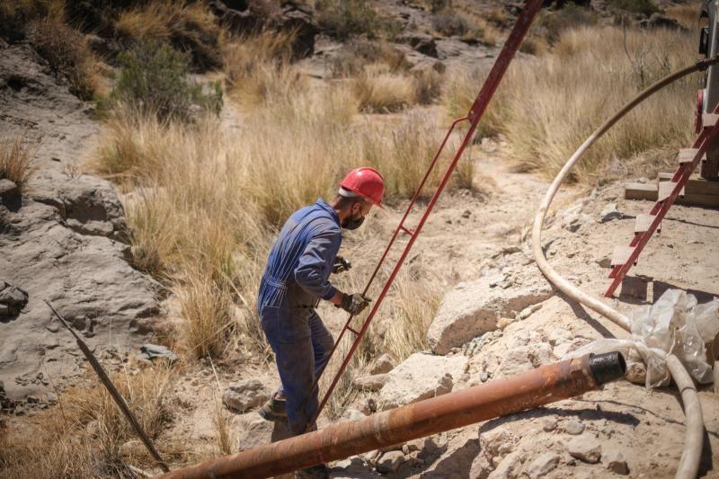 Obras del Complejo Ambiental de Tenerife en el barranco de Guasiegre (Arico)