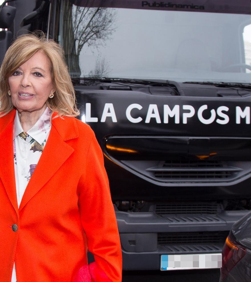 María Teresa Campos vuelve a la tele a bordo de un camión