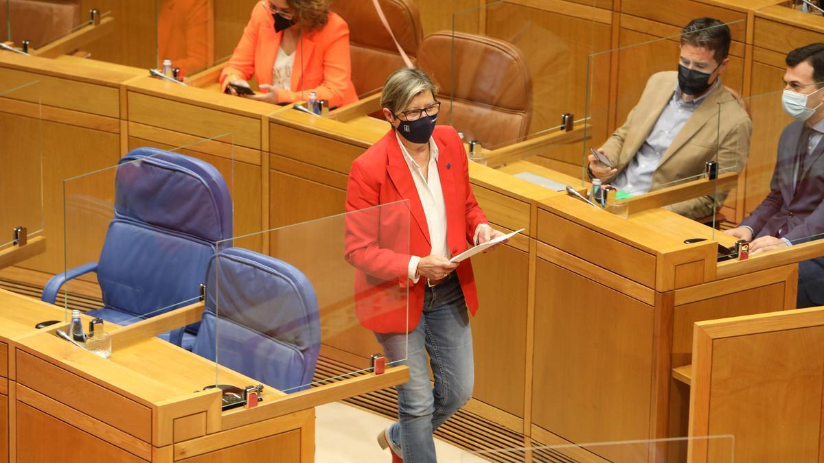 Rosa Quintana, ayer en el Parlamento gallego.