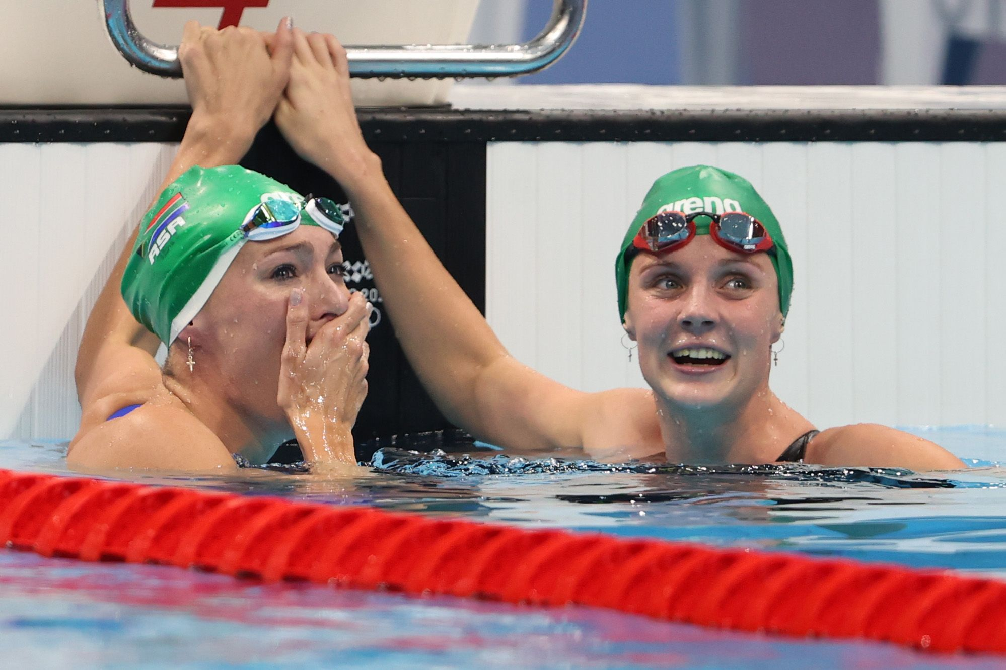 Emocionante gesto de la sudafricana Tatjana tras hacerse con el oro olímpico y el récord mundial
