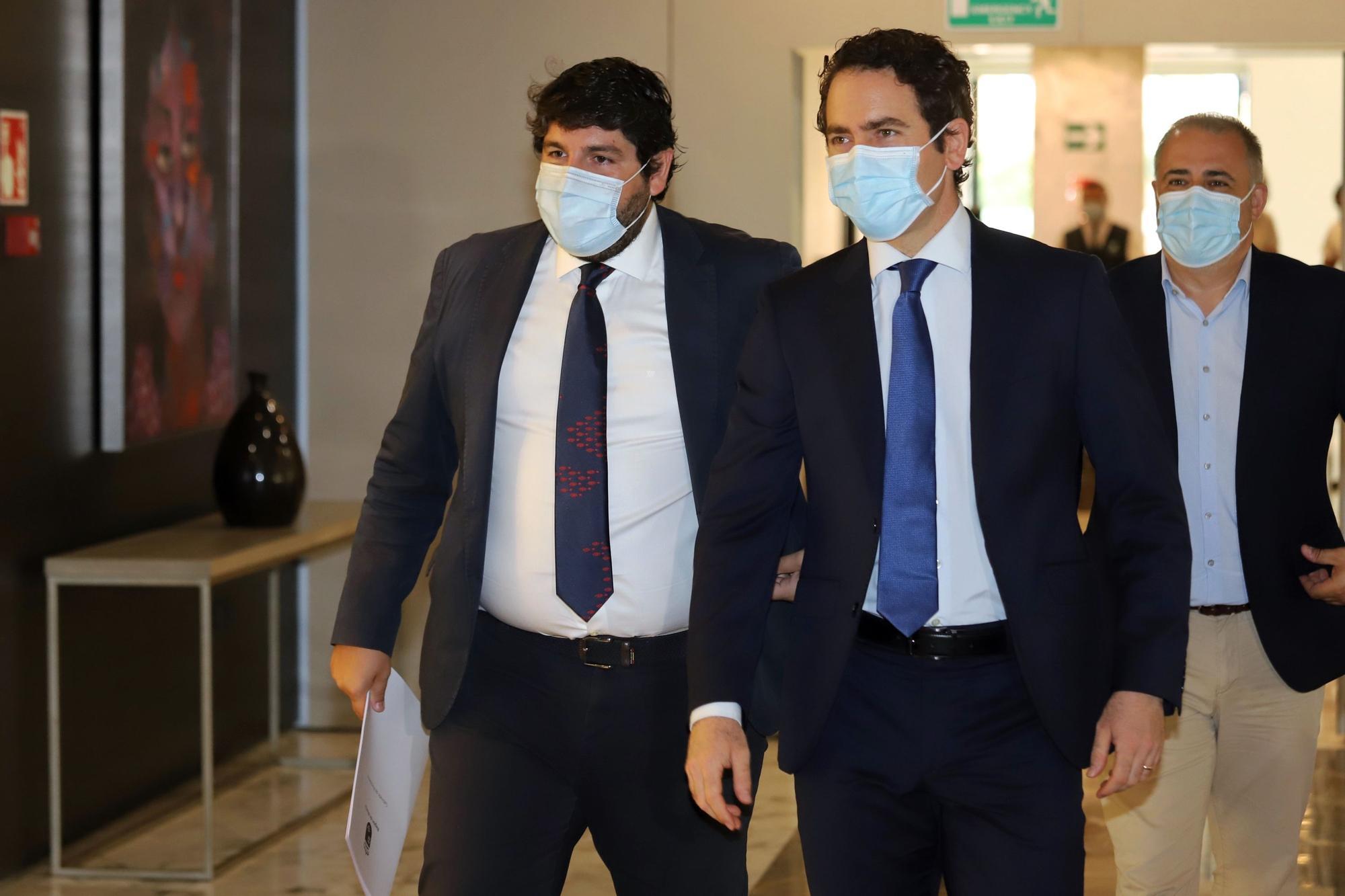 López Miras y Teodoro García Egea