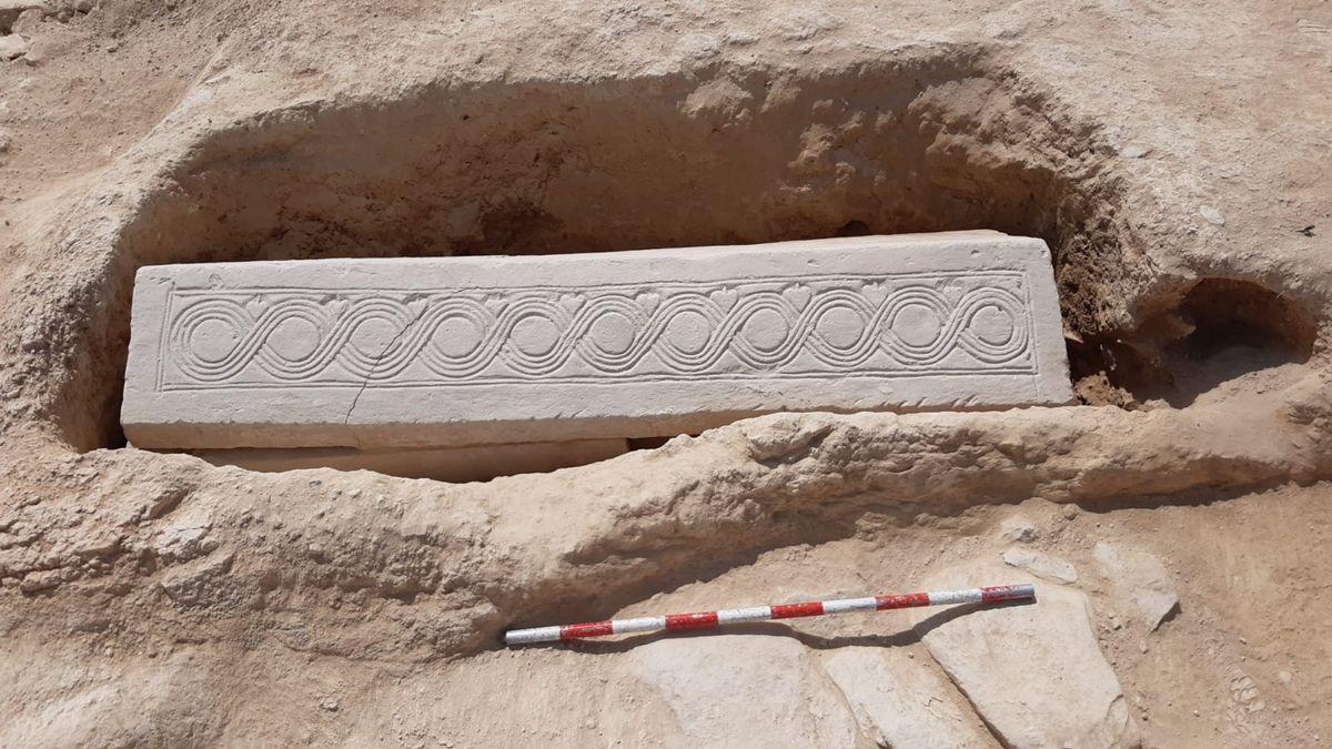 El sarcófago visigodo hallado en Murcia.