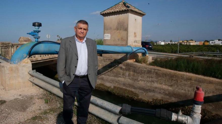 El alzireño Costa presidirá 4 años más la Séquia Reial con el reto de acabar el goteo