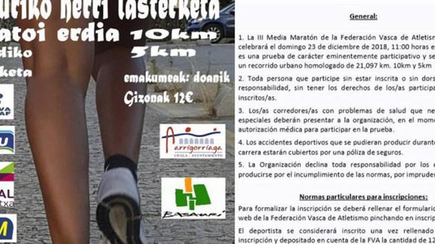Polémica sexista en la Media Maratón de Basauri