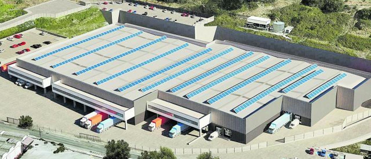 Recreación virtual del IberAtlantic Logistic Park Lisboa