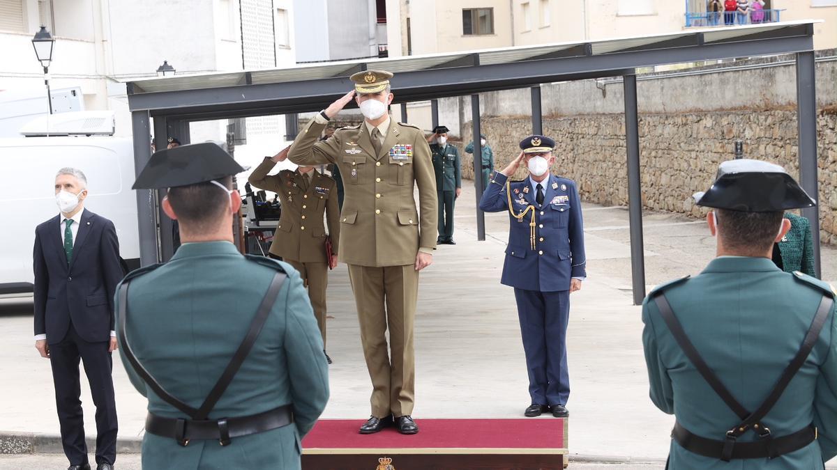 El rey Felipe VI visita Valencia de Alcántara