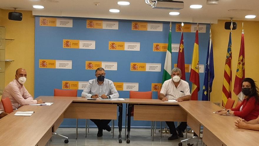 La CHS y los ayuntamientos de Alguazas y Molina abordan el proyecto del puente de El Paraje