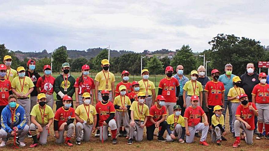 Entrega de los premios de la zona de Gijón de los juegos escolares de béisbol