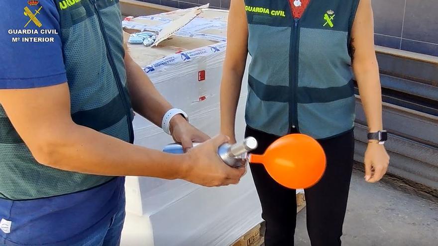 Operación 'Cuadrillas' contra el tráfico de gas en la risa entre Melilla y Málaga