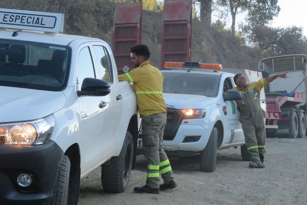 Incendio forestal en la Sierra de Aguafría de Monesterio