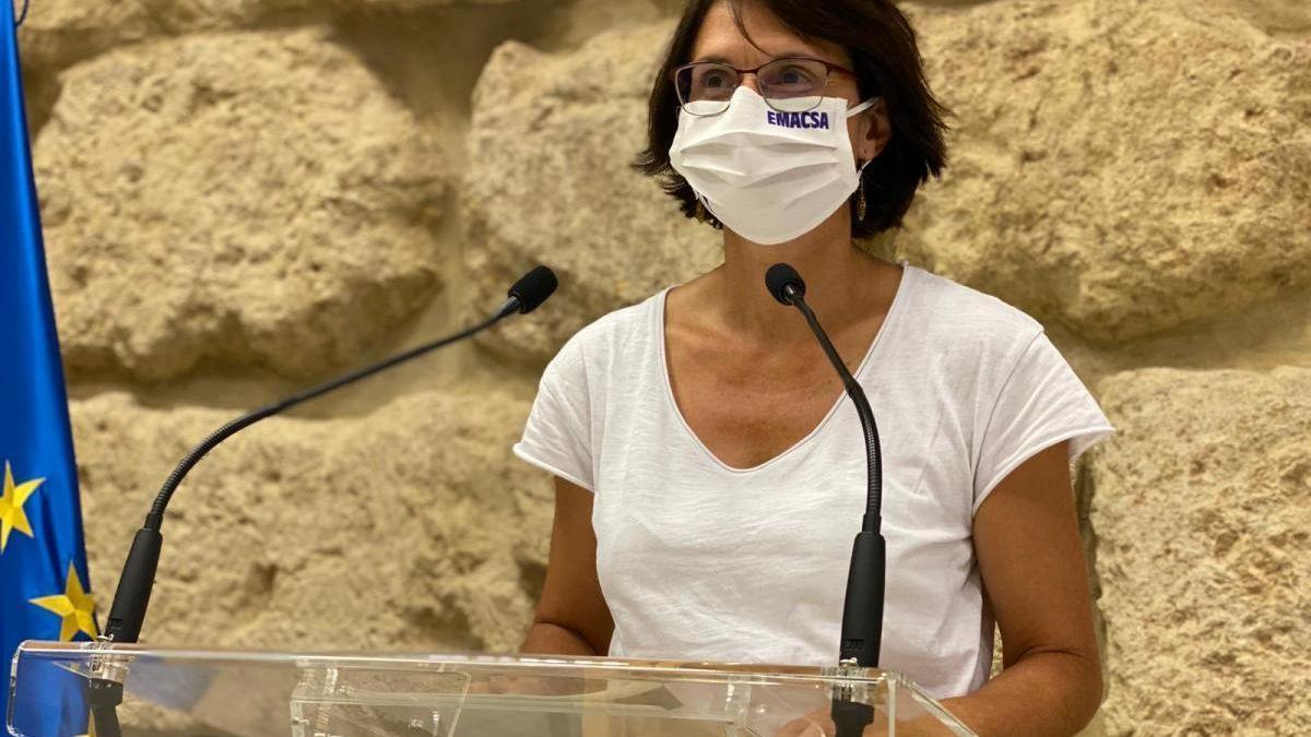 La viceportavoz municipal de IU Amparo Pernichi.