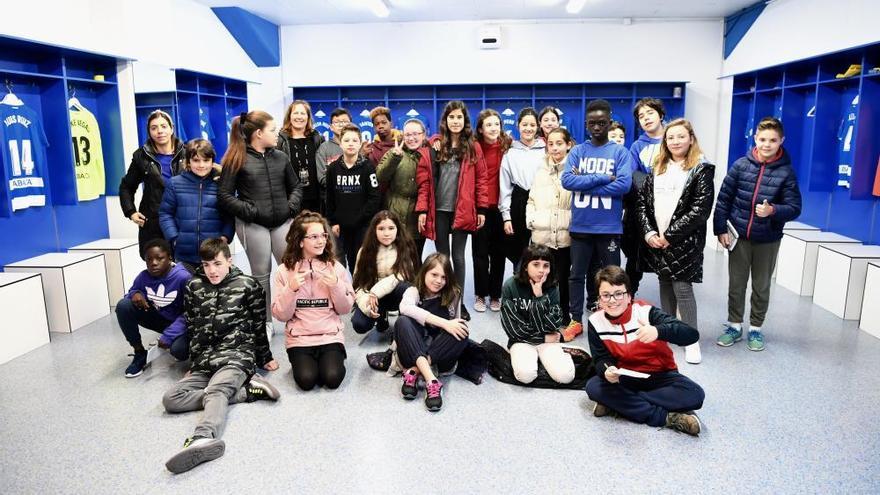 Ruta blanquiazul para escolares del Raquel Camacho