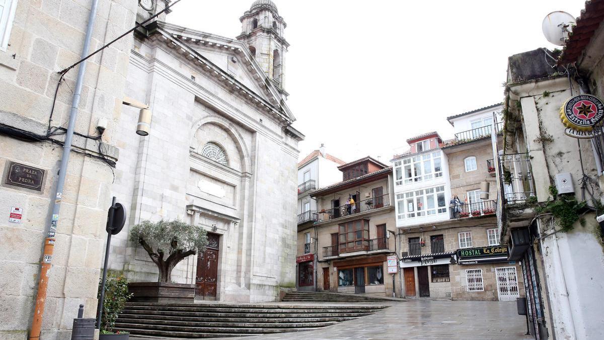 El Casco Vello de Vigo, durante el estado de alarma // Marta G. Brea