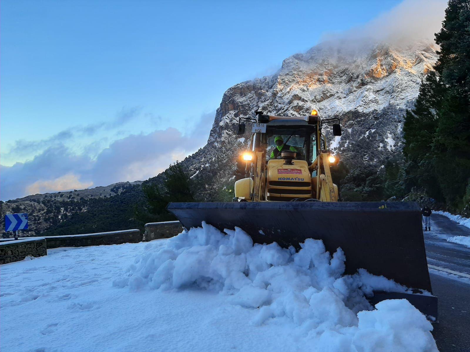 Nieve en la serra de Tramuntana