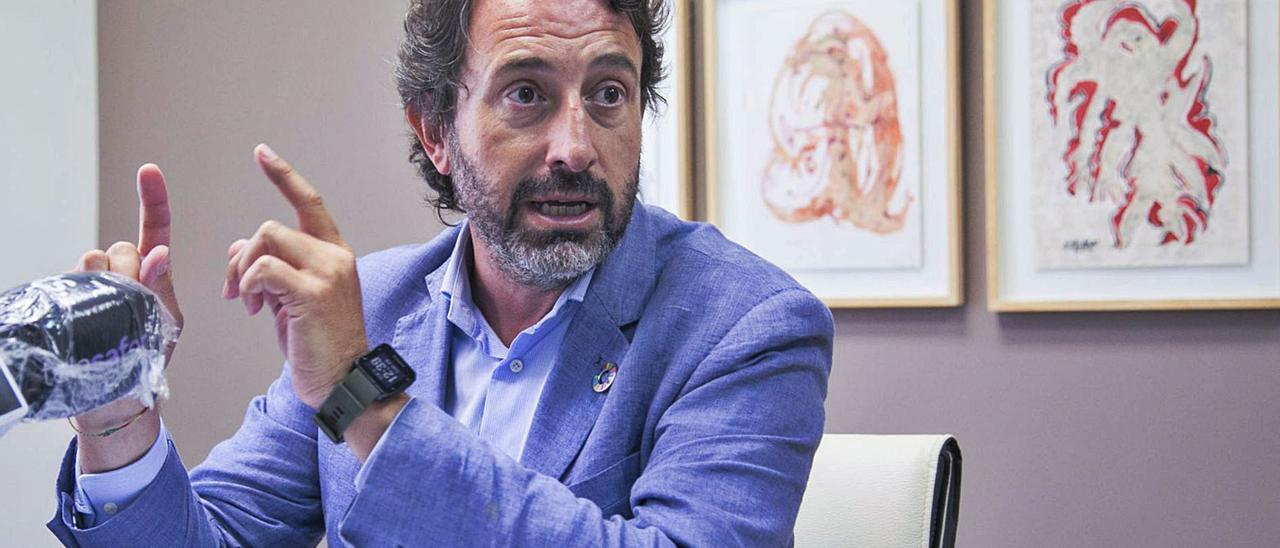 Vicent Mascarell, concejal de Turismo, Next Generation y portavoz del PSPV de Gandia y responsable de Hacienda en la diputación.                        ÀLEX OLTRA