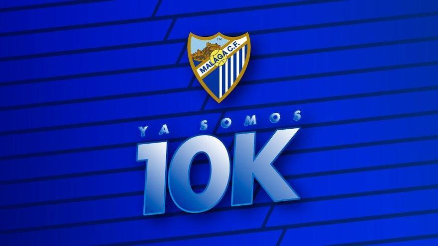 El Málaga CF alcanza los 10.000 abonados