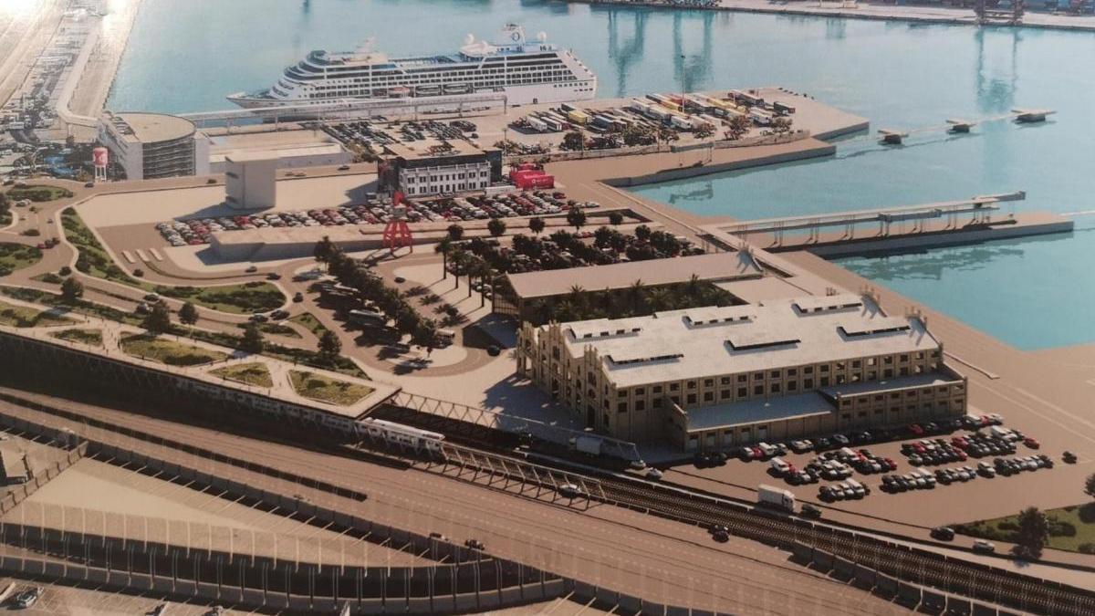 Vista general del Puerto de València