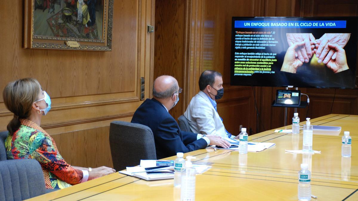 Reunión entre la Diputación y la Junta por la Silver Economy.