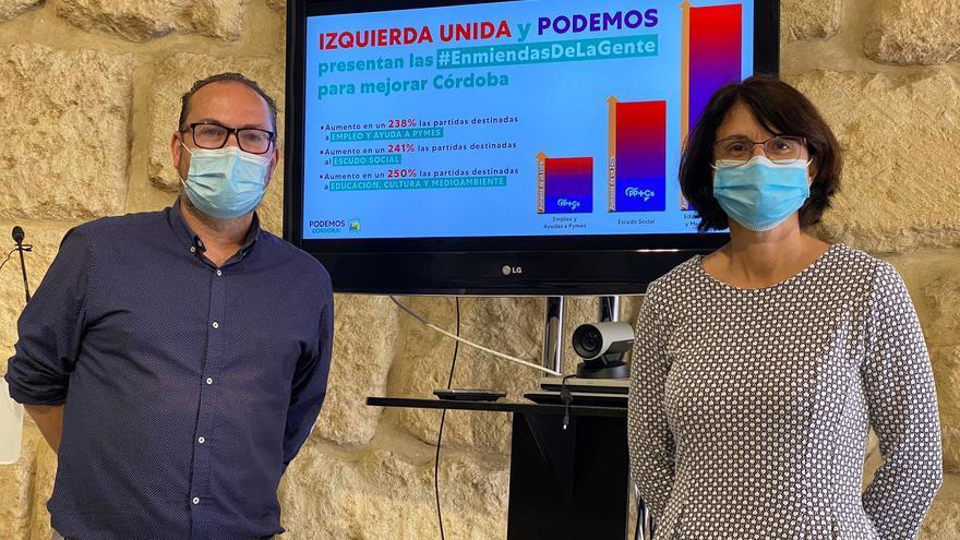 IU y Podemos presentan 19 enmiendas a los presupuestos municipales por valor de 5,8 millones de euros