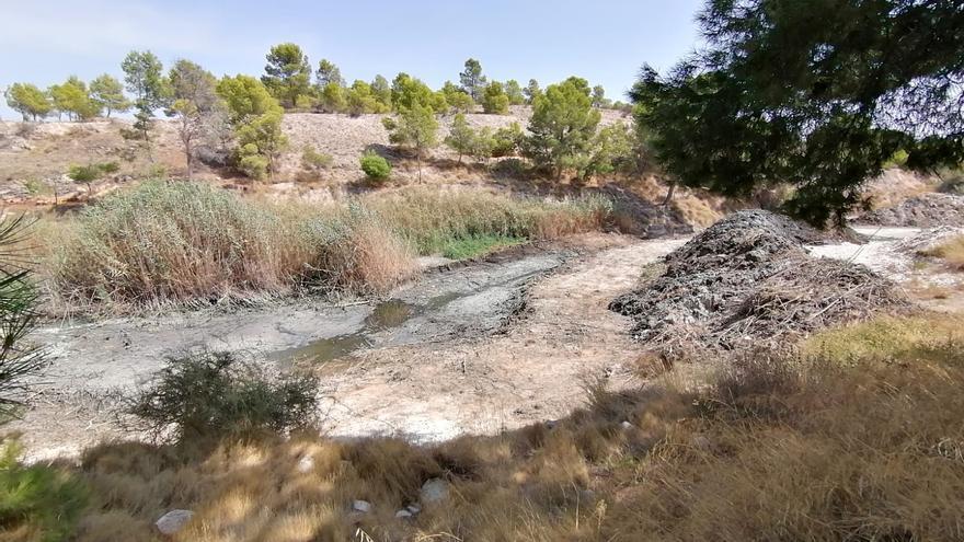 Los vecinos de Charco Amargo en Monóvar indignados con las obras del cauce de la rambla