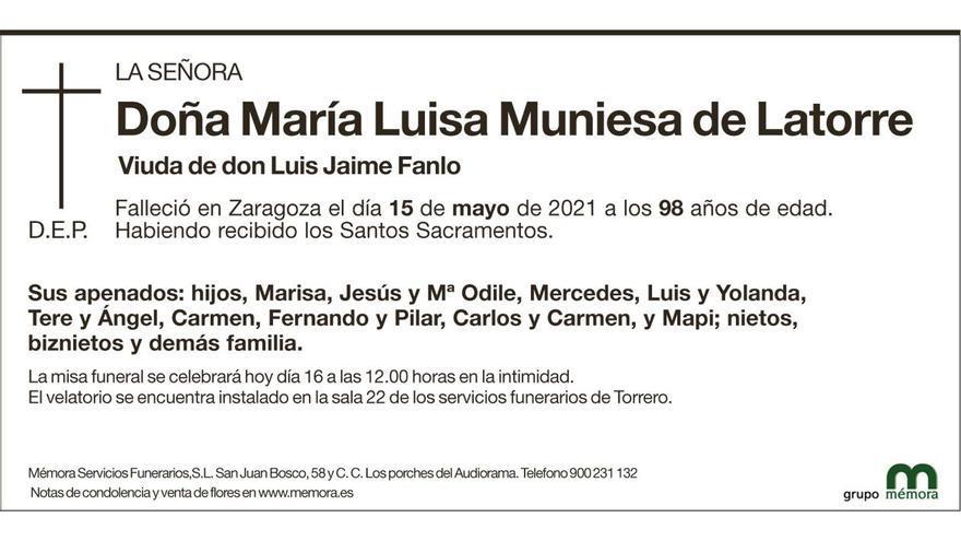 María Luisa Muniesa de Latorre