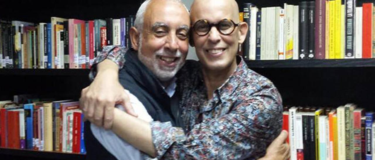 José Antonio Godoy con Pedro Zerolo en una imagen reciente.