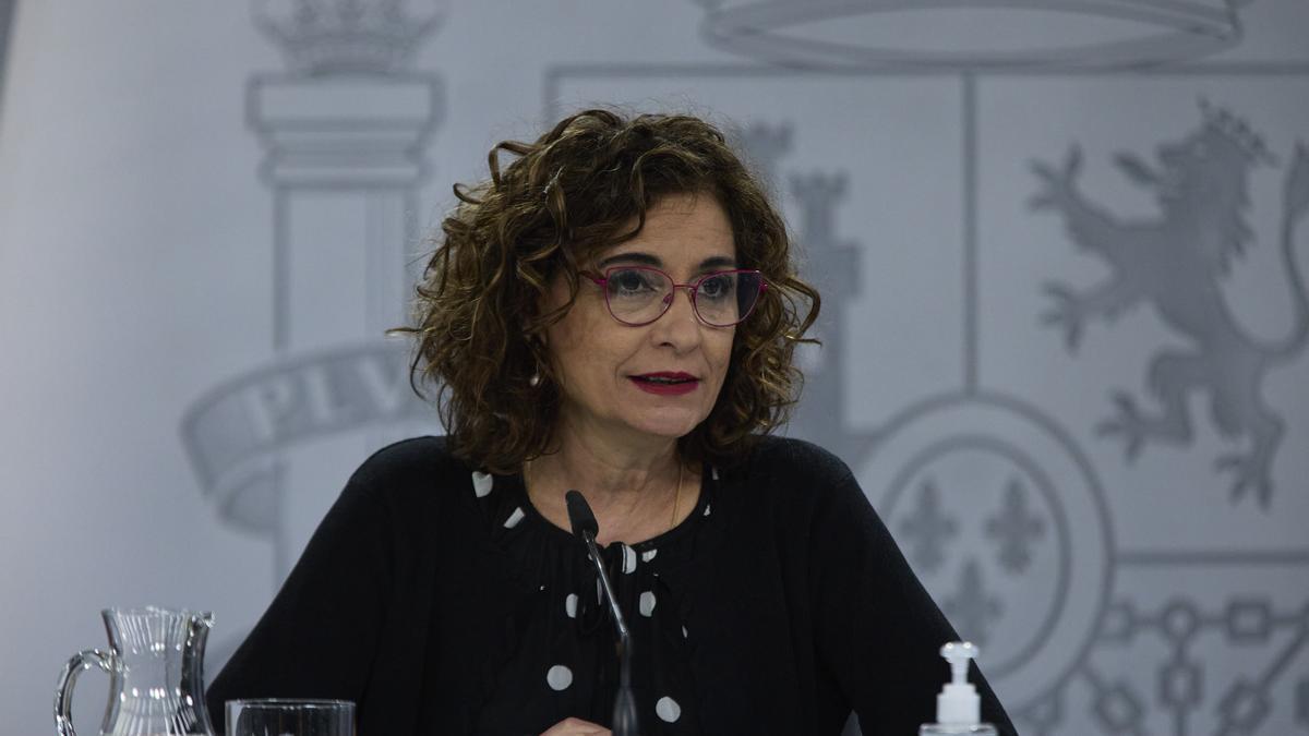 La ministra portavoz y ministra de Hacienda, María Jesús Montero.