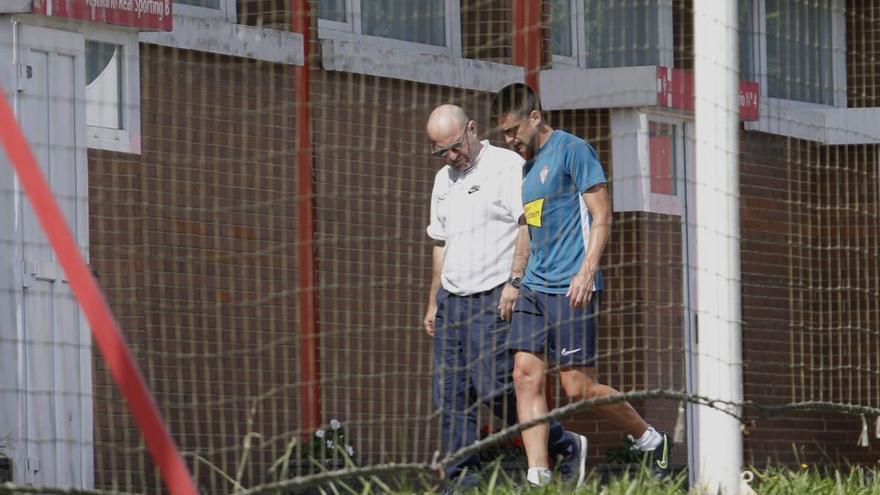 Damián Pérez, duda en el Sporting para la visita al Deportivo