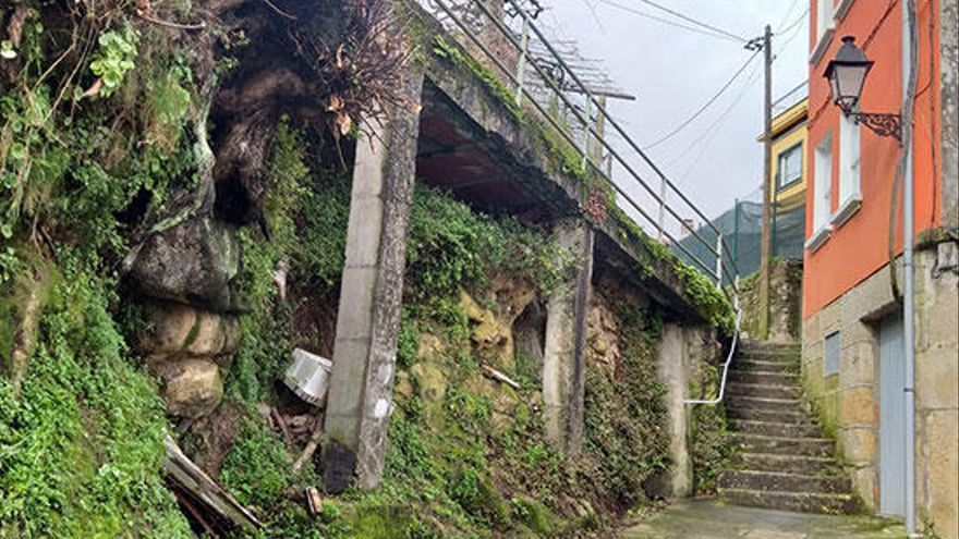 Marín reforzará el muro de Cividanes ante el peligro de derrumbe
