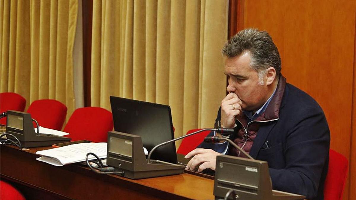 El concejal de Cs Manuel Torrejimeno, en un pleno.