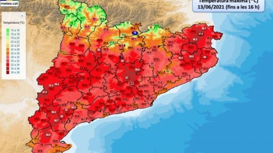 Artés i Sant Salvador de Guardiola, entre els deu municipis que han registrat la temperatura més alta d'aquest diumenge
