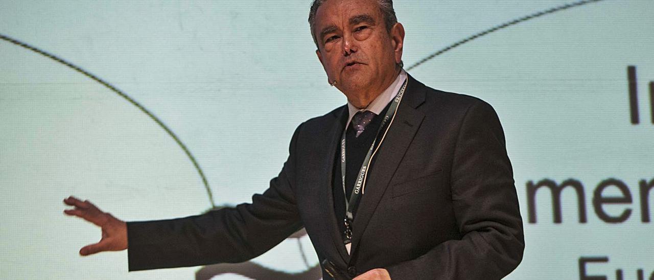 El impulsor de la alianza de nodos tecnológicos 1.070 KM Hub, Andrés Pedreño.    PILAR CORTÉS
