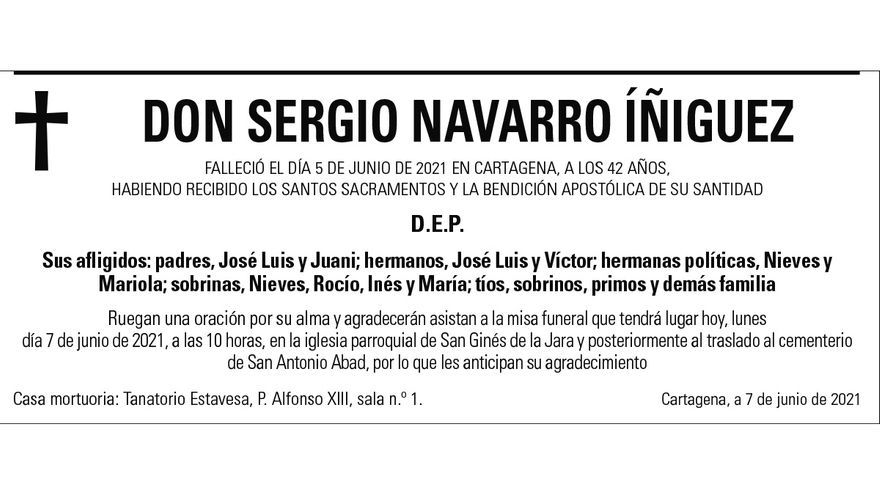 D. Sergio Navarro Íñiguez