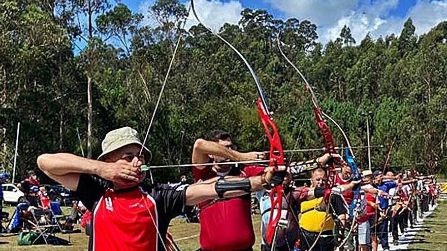 Un campeonato de tiro con arco reducido