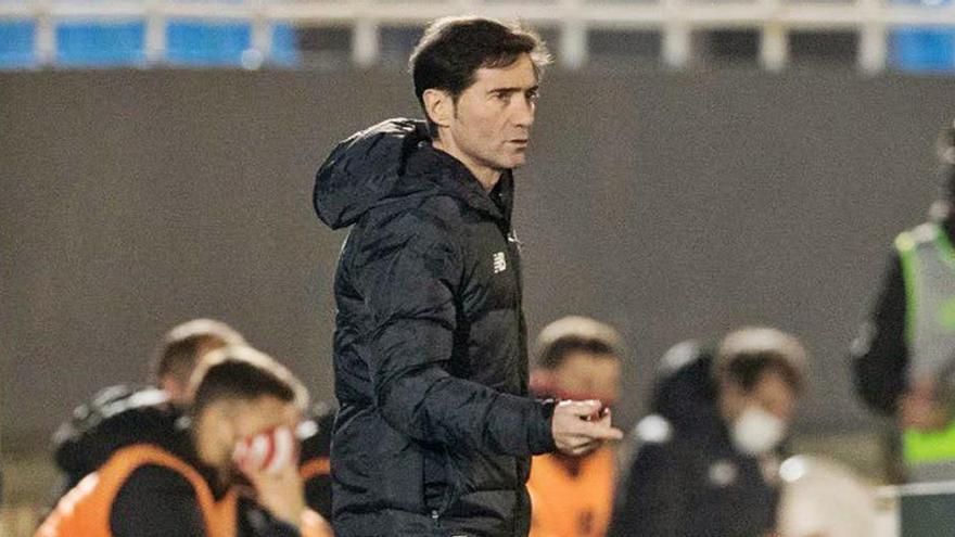 Marcelino García: «Ha sido un partido muy complicado  frente a un rival muy difícil»