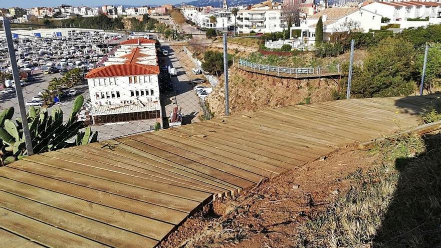 El camí de ronda ja uneix Palamós amb la platja de Castell