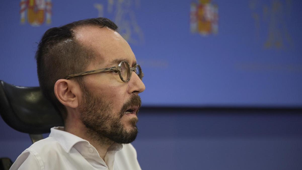 Pablo Echenique, portavoz de Unidas Podemos.